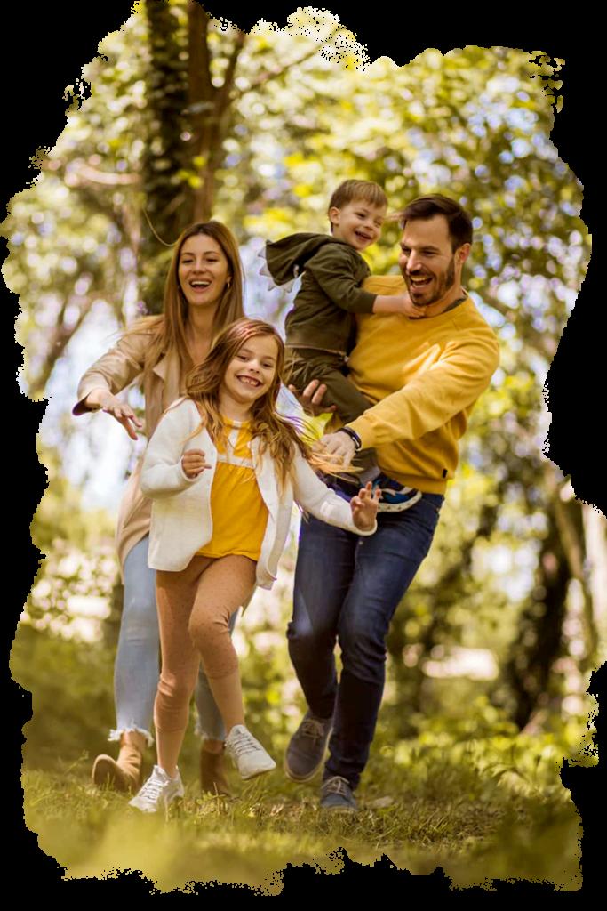 Imagen o Fotografía que representa una familia disfrutar de los departamentos